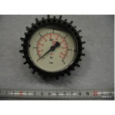 """Манометр 0-10 бар 1/4"""" внизу, D=63 мм"""